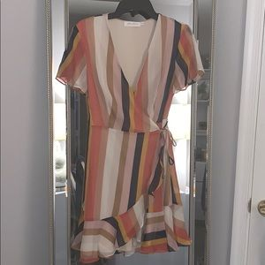 6d2209c68 All in Favor Dresses - BNWT! All in Favor Isabella Wrap Dress Striped